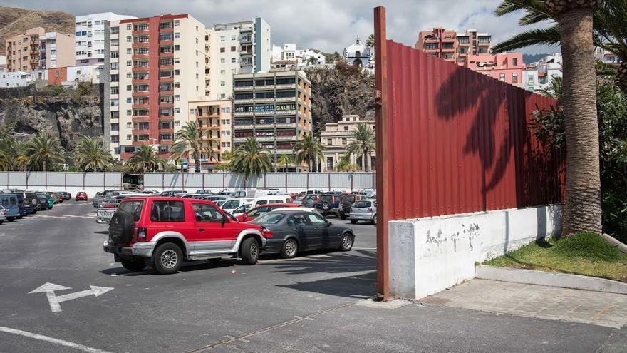 En la imagen, zona donde se instalará el escenario principal de las Fiestas Lustrales.