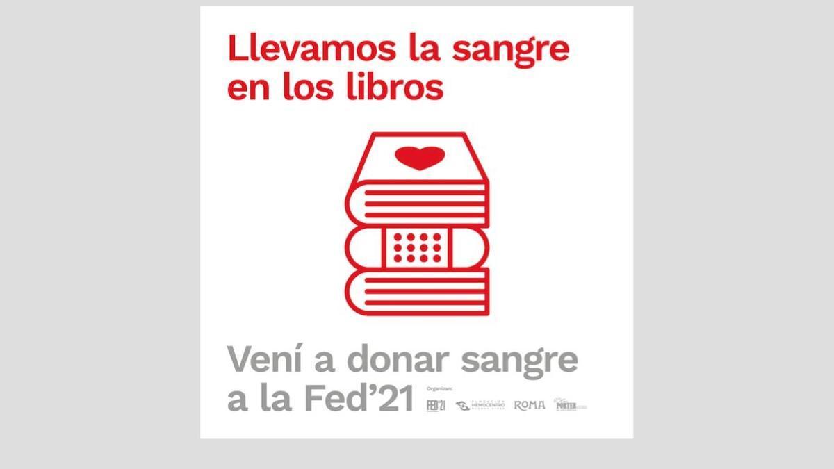 Lanzan una iniciativa para concientizar sobre la donación de sangra durante la FED '21