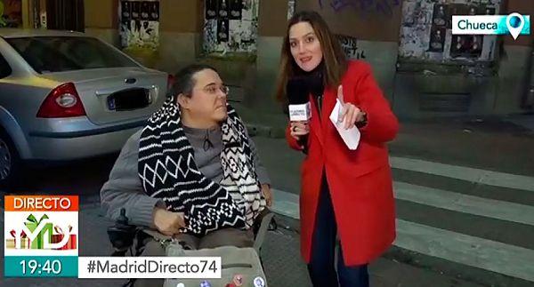 Fotograma Madrid Directo usuario silla ruedas