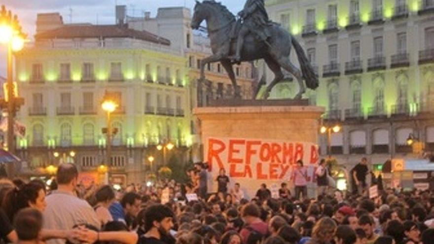 Protesta del 15M.