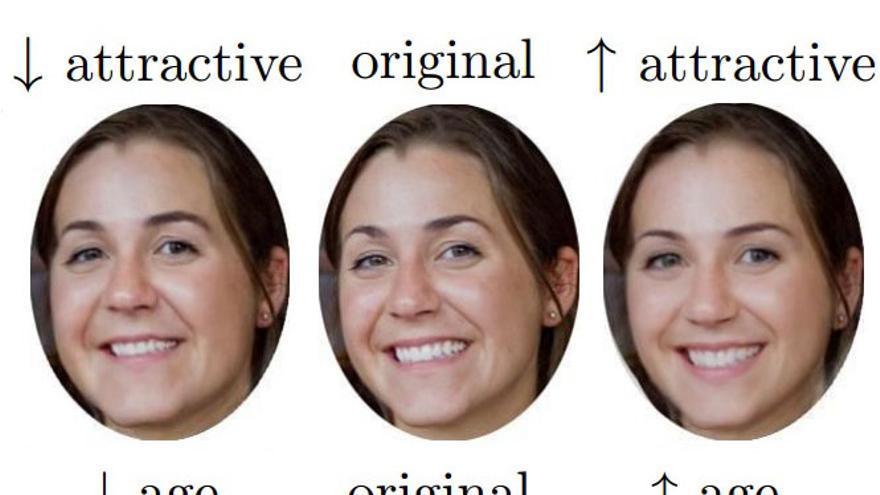 Rostros modificados por un algoritmo para cambiar su apariencia