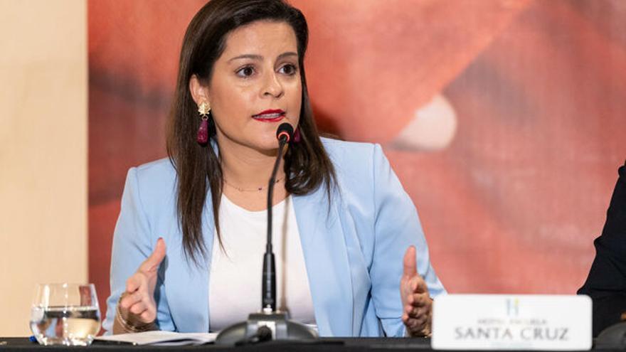 Yaiza Castilla, Consejera de Turismo, Industria y Comercio del Gobierno de Canaria.