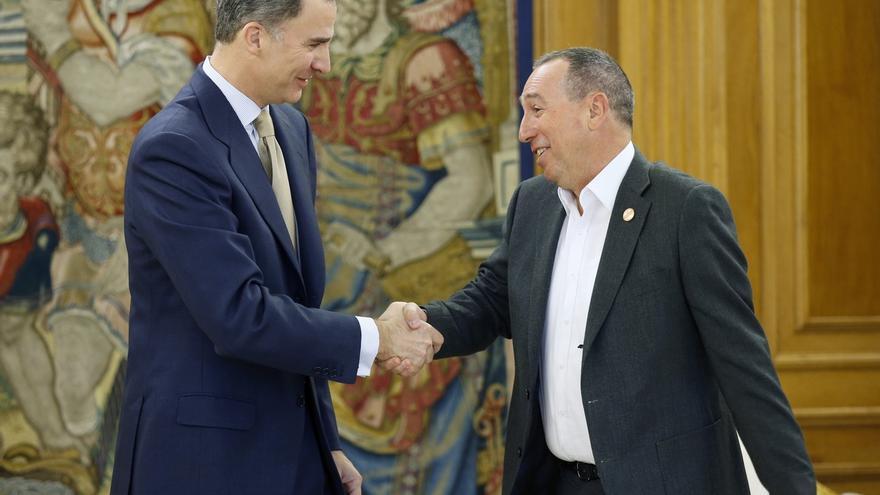 El Rey reconoce el esfuerzo de Compromís para evitar las elecciones y su talante negociador, según Baldoví