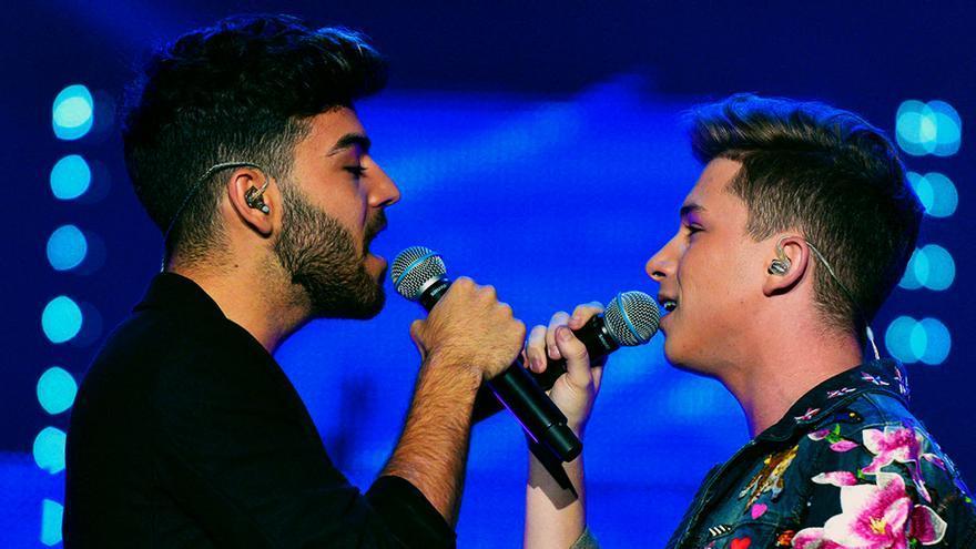 Agoney y Raoul en el primer concierto de OT en Barcelona