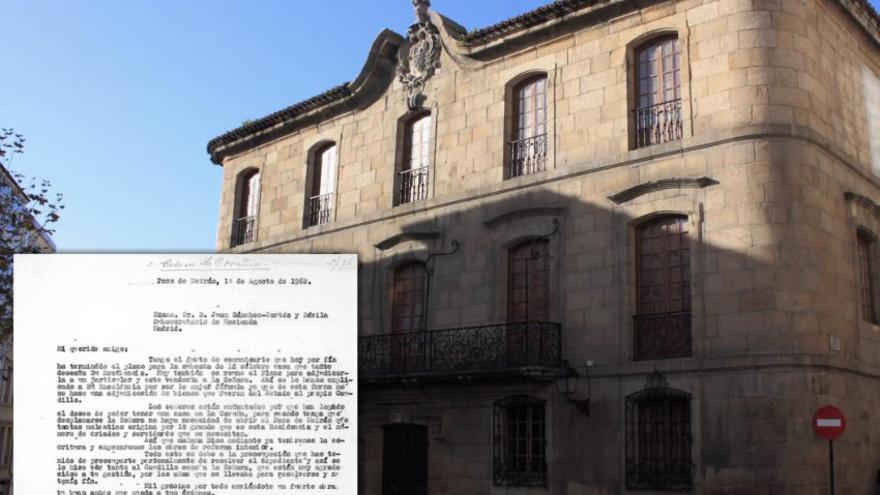 Una carta del secretario de Franco acredita la artimaña del dictador para apropiarse de otro histórico inmueble
