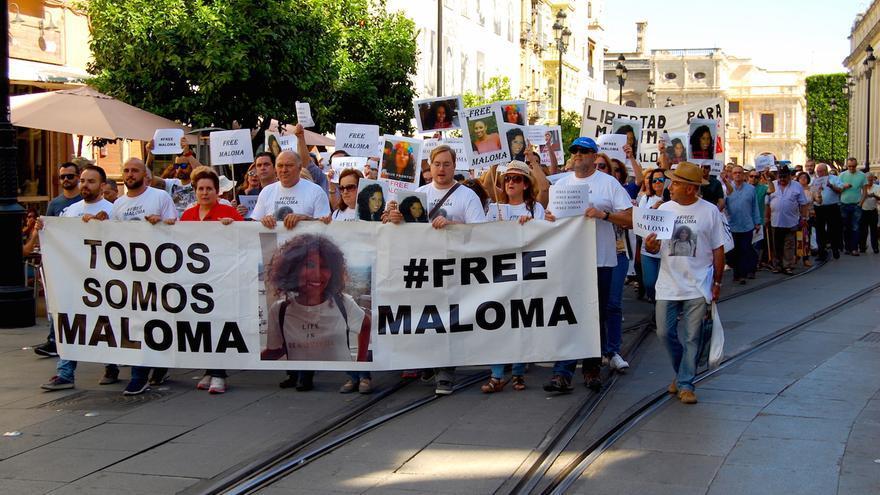 Manifestación por la liberación de Maloma. Foto: Alejandro Ávila