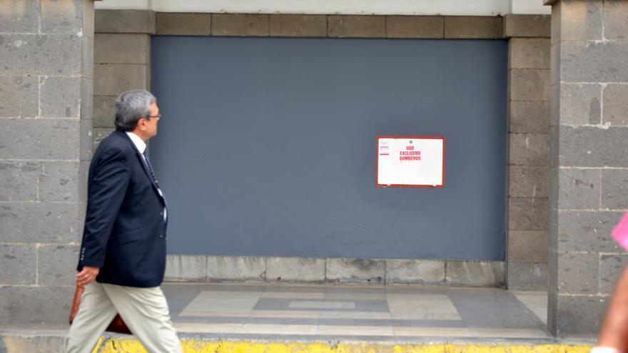 Miguel Pérez Camacho a su salida del Palacio de Justicia.