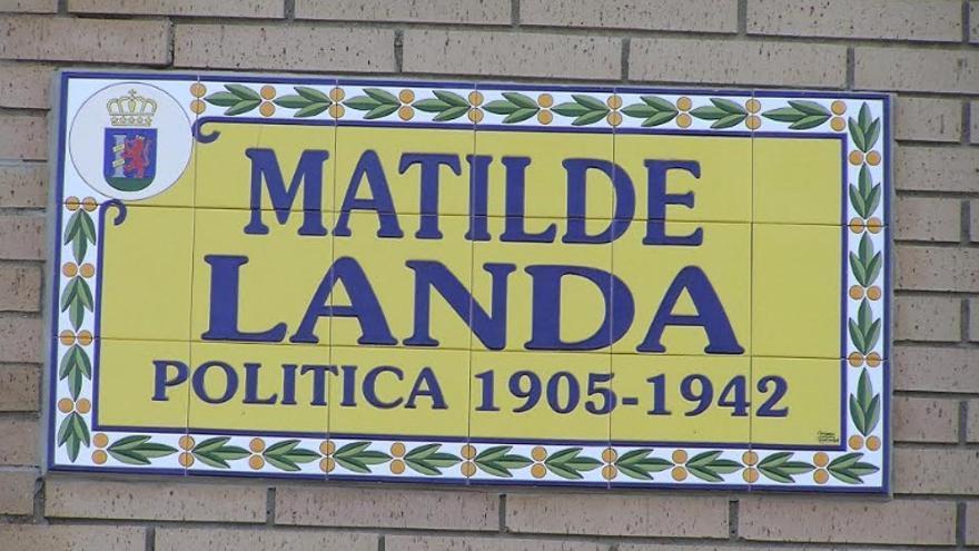 Una calle en su nombre en la ciudad de Badajoz / Asociación Matilde Landa