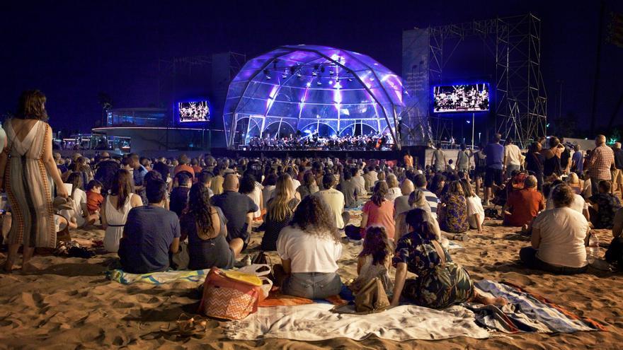 Uno de los conciertos celebrados el año pasado en la playa de Valencia