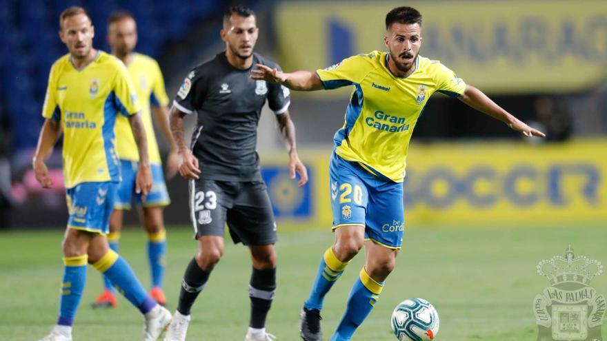 Acción del encuentro en el Estadio Gran Canaria