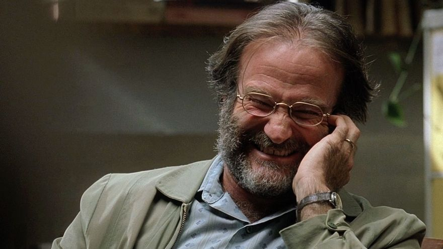 El actor Robin Williams en 'El indomable Will Hunting'