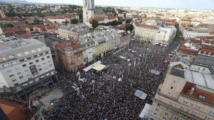 Unas 50.000 personas se manifestaron contra el Gobierno conservador croata