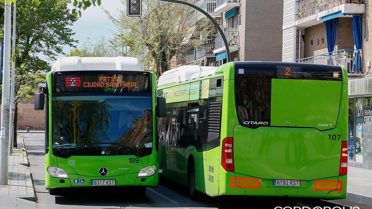 Autobuses de Aucorsa.