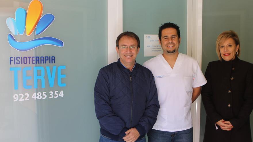 Sergio Rodríguez (i), Jorge Hernández y Ángeles Fernández.