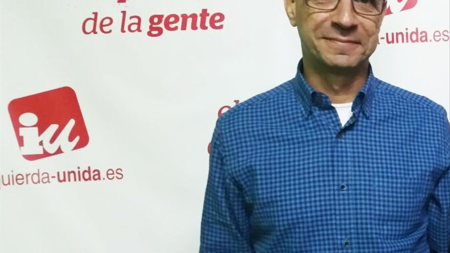 El candidato de IU-UP al Congreso por Toledo, Javier Sánchez