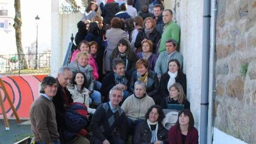Alguno de los padres y madres de Zas autores de la protesta