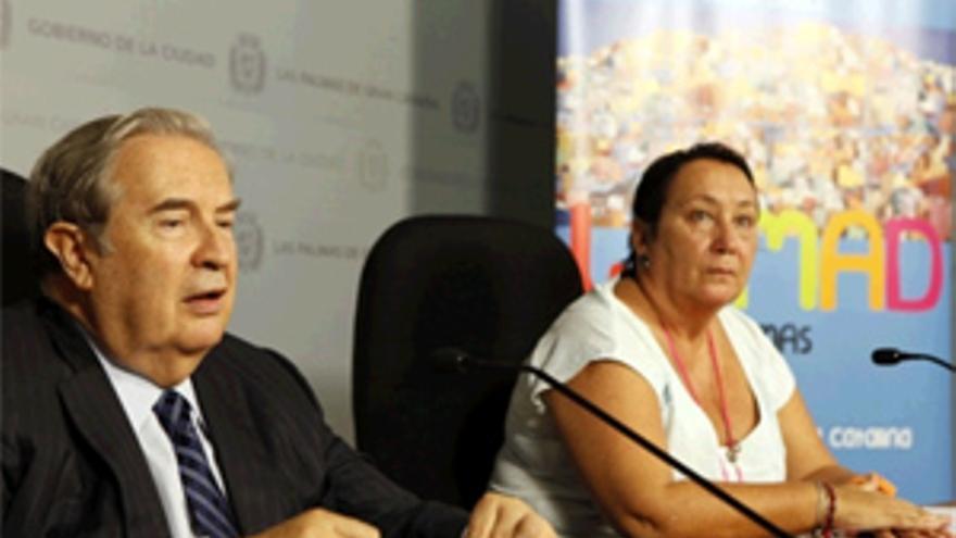 Jerónimo Saavedra y Dania Dévora durante la rueda de prensa. (ACFI PRESS)
