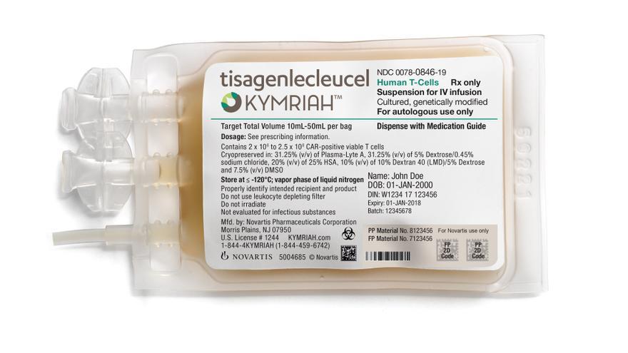 Kymriah, es la primera terapia génica aprobada en España