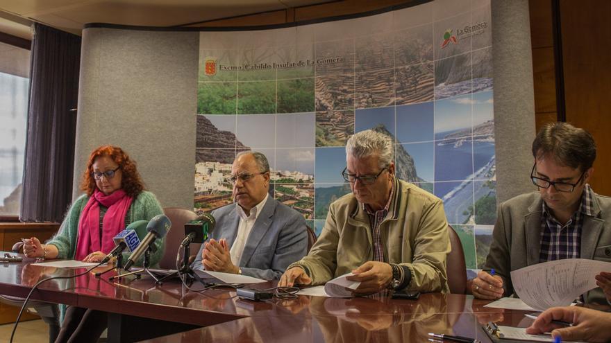 Rueda de prensa celebrada hoy en el Cabildo Insular de La Gomera