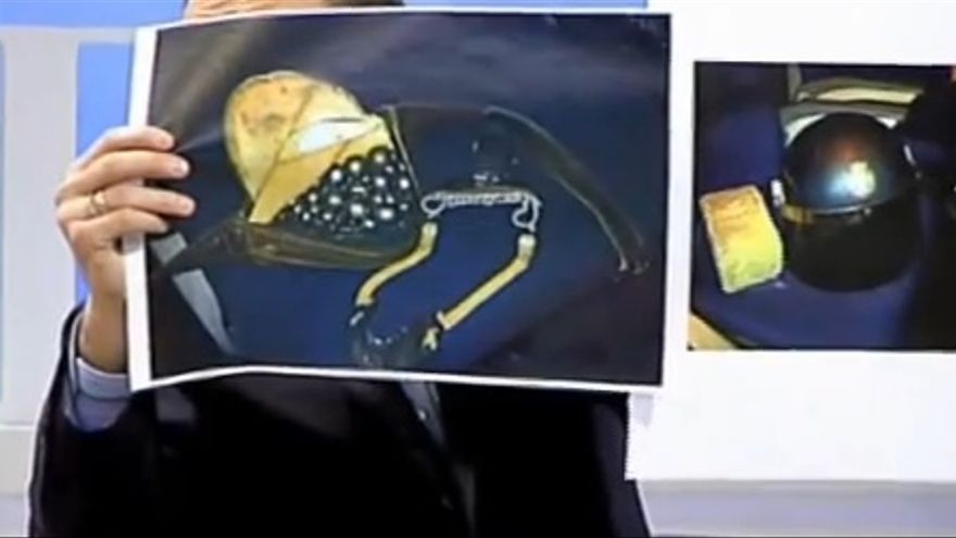 El portavoz del CEP muestra el tirachinas en 13 TV