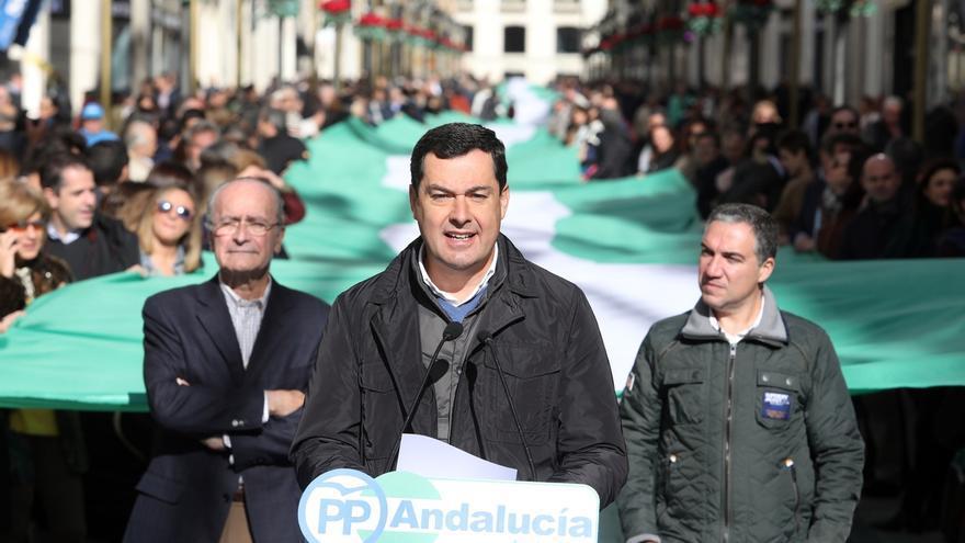"""Moreno:""""En 40 años de monopolio de PSOE se han perdido oportunidades"""" y pide """"rebelarse"""" y """"mirar al futuro con ilusión"""""""