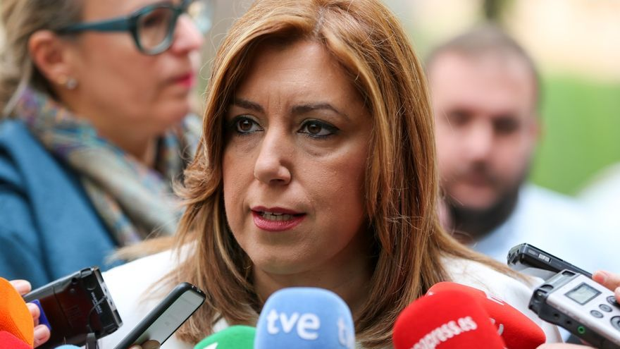 """Susana Díaz lamenta el """"ataque"""" de Sáenz de Santamaría al """"autogobierno"""" y las 35 horas para funcionarios en Andalucía"""
