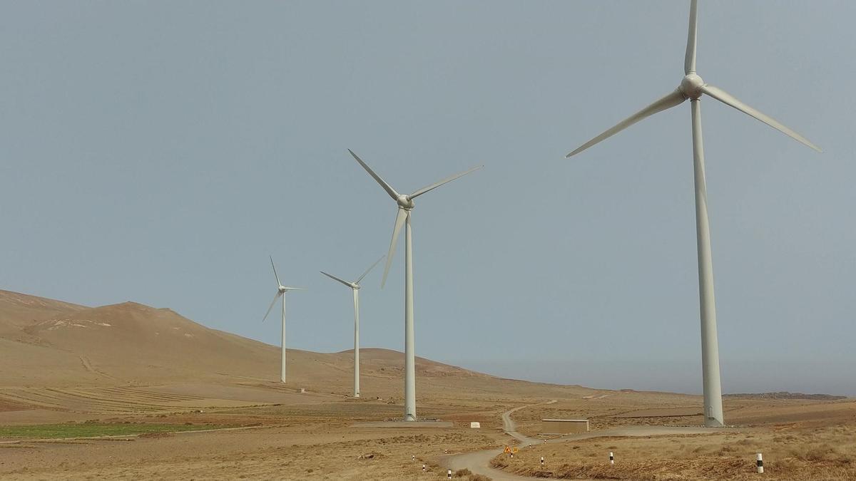 Aerogeneradores, en Canarias