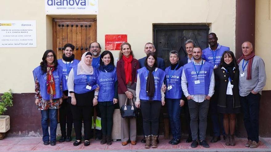 Imagen de la visita de la infanta Elena al centro. / Dianova
