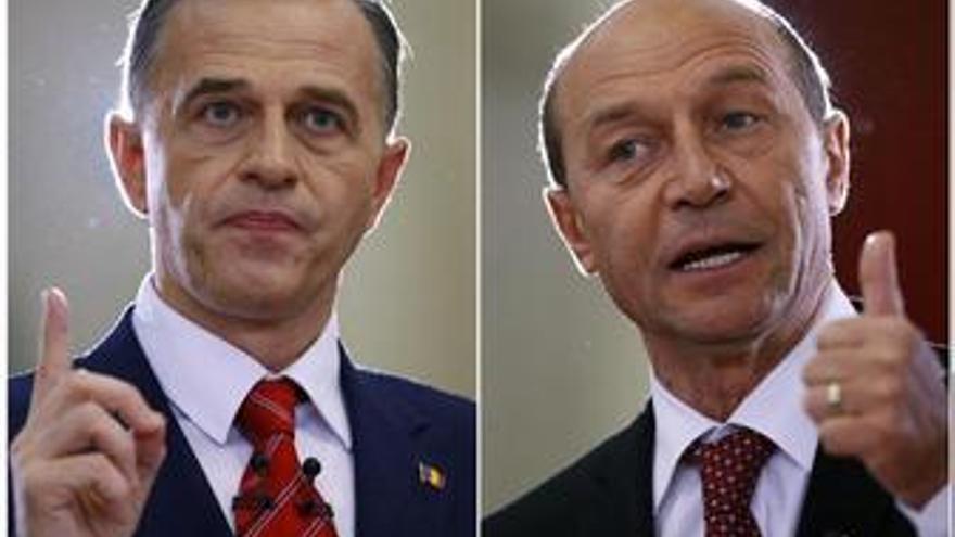 Basescu aventaja ligeramente a Geoana en las elecciones rumanas