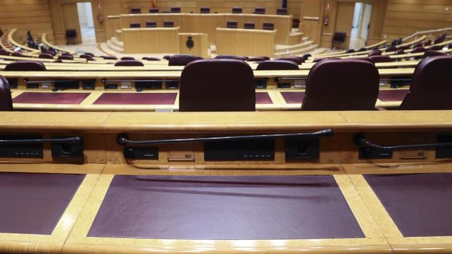 Hemiciclo del Senado, cámara encargada de aplicar el artículo 155 de la Constitución