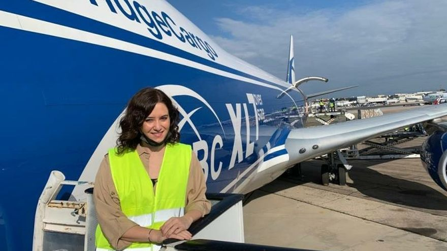 Aterriza un avión con 113 toneladas de material sanitario para Madrid