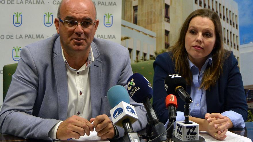 Anselmo Pestana y Laura Paz este miércoles en rueda de prensa.