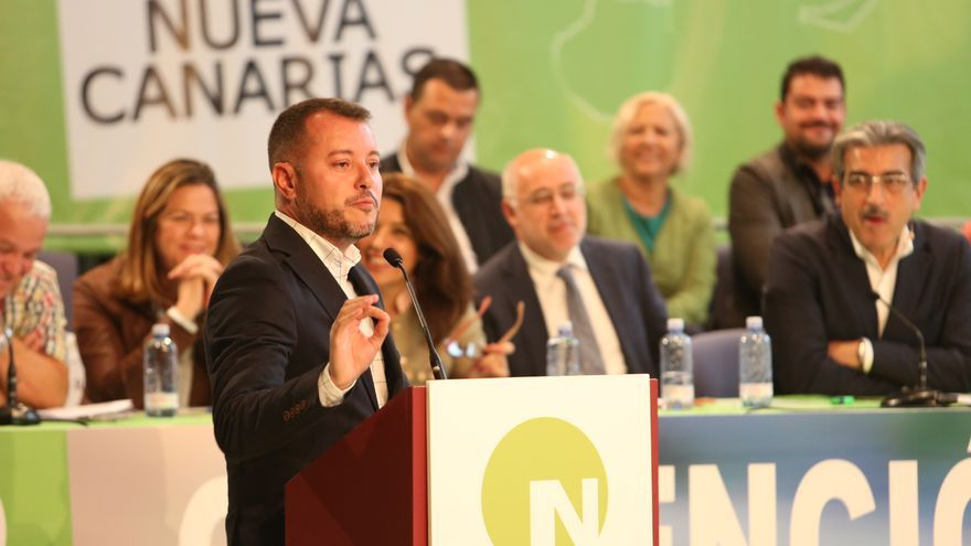 El alcalde de Gáldar Teodoro Sosa en la Convención Nacional de Nueva Canarias (ALEJANDRO RAMOS)