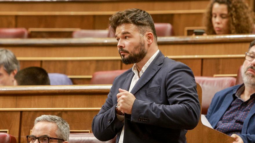 """Rufián anima a Iglesias a investir a Sánchez pese a su último 'portazo': """"Saldría a hombros del Congreso"""""""