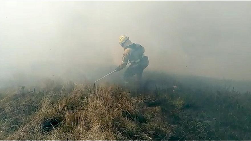 Activos dos incendios forestales en Castro Urdiales, sin riesgo para personas o edificios