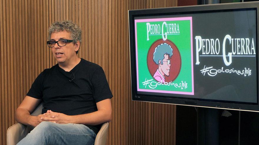 Pedro Guerra, fotografiado en la presentación de su nuevo proyecto musical, tras 25 años de carrera artística en solitario