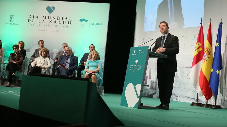 Emiliano García-Page en el Día Mundial de la Salud