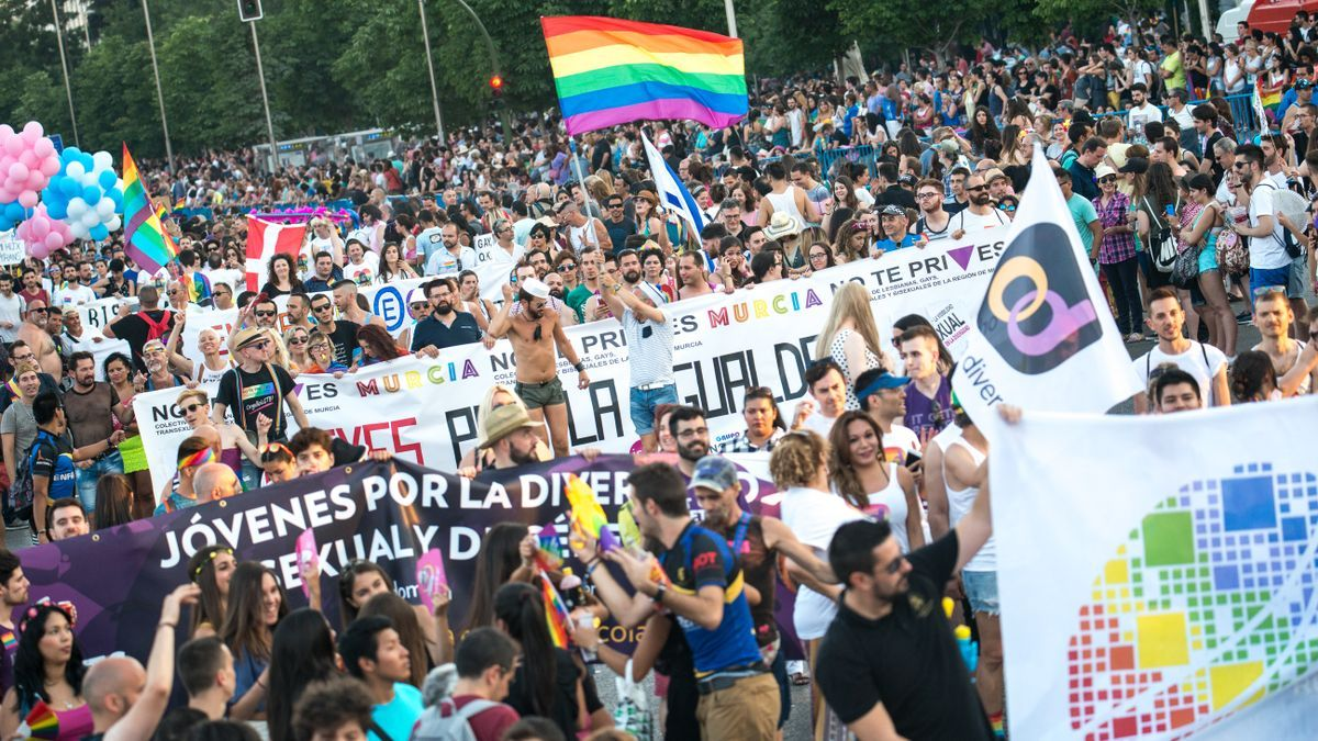 Una imagen de la manifestación del Orgullo de 2019 en Madrid