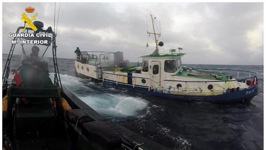 Interceptan un pesquero con 9,2 toneladas hachís y detienen a dos holandeses