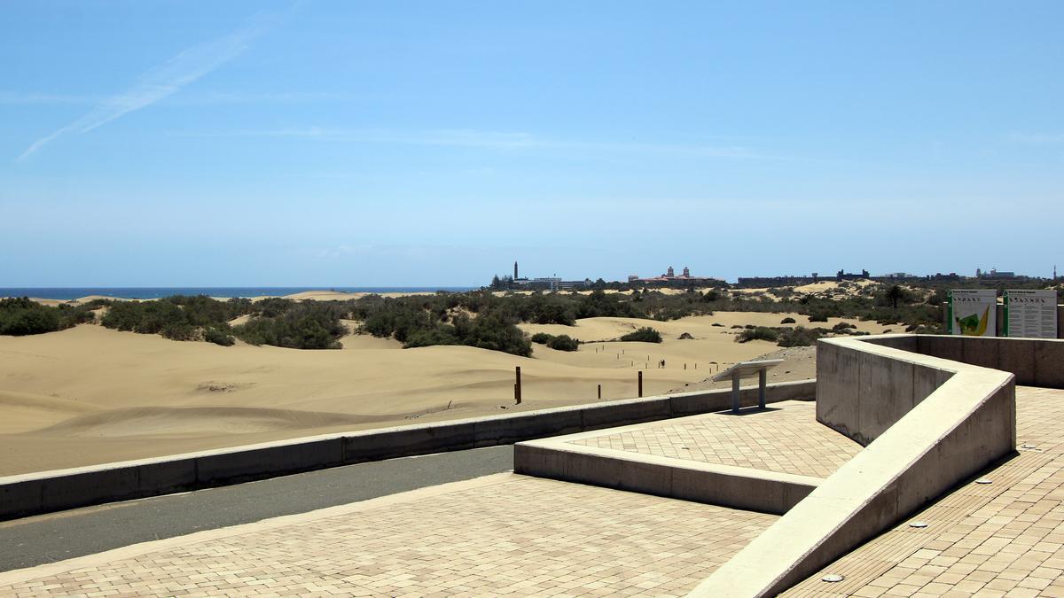 Dunas de Maspalomas en la isla de Gran Canaria.