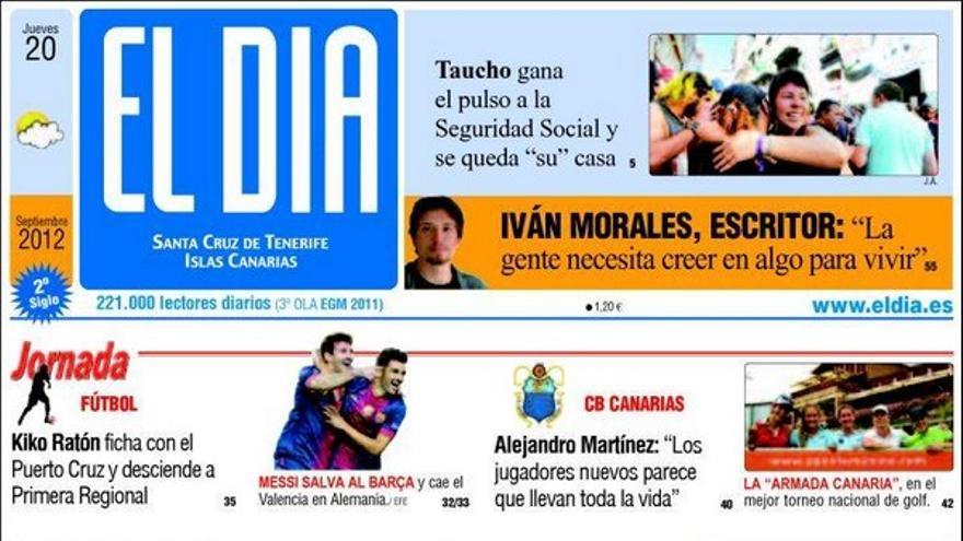 De las portadas del día (20/09/2012) #3