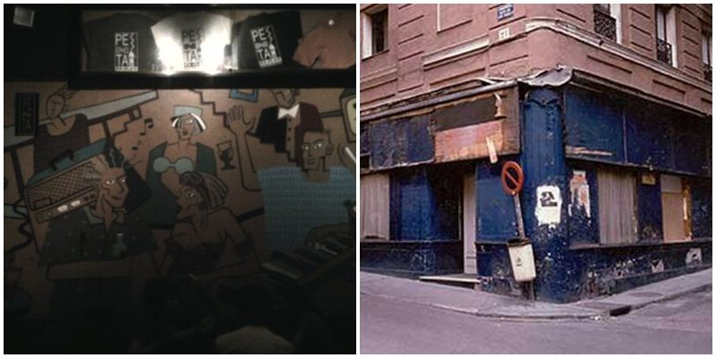 Interior del Penta en la actualidad y aspecto exterior del bar en los noventa