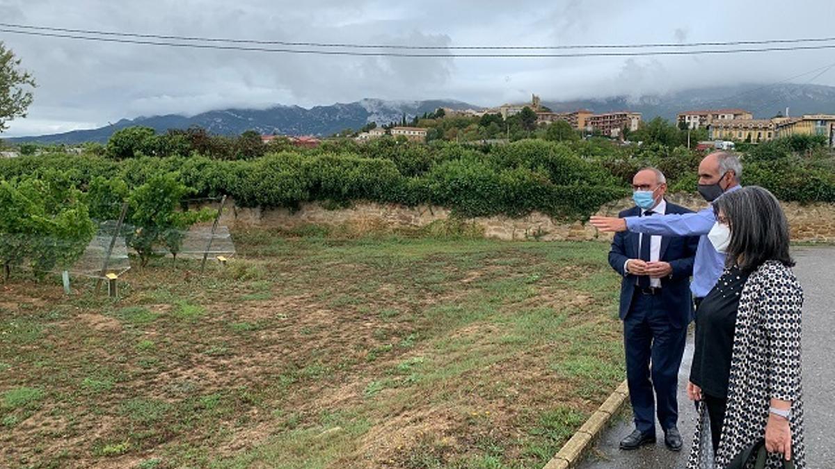 González, en su visita de este viernes a Laguardia