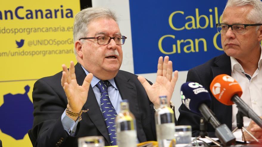 José Francisco Pérez, junto a José Miguel Bravo de Laguna.