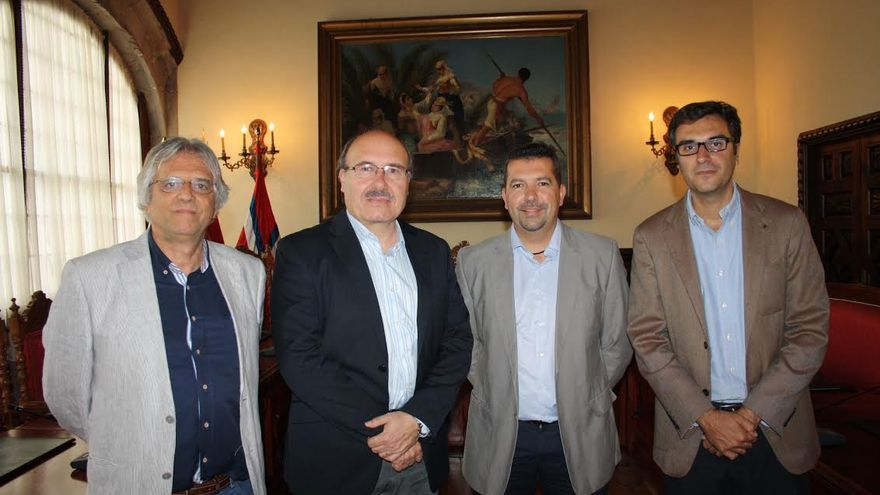 De izquierda a derecha, Juan Carlos Pérez, Juan José Cabrera, Rafael Rebolo y Zacarías Gómez.