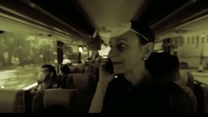 Captura del trailer del corto 'La Fuga' sobre el cementerio nuclear de Villar de Cañas