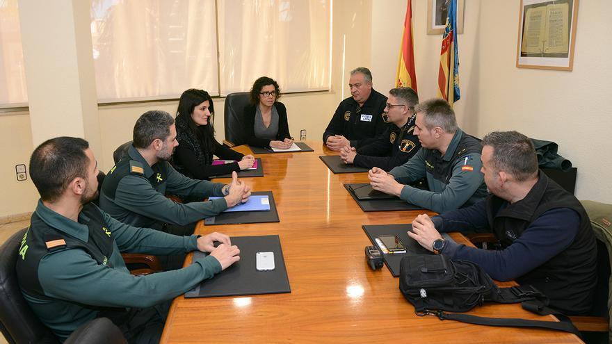 Isabel Martín encabeza una junta local de seguridad de Paiporta en la que participa la Guardia Civil