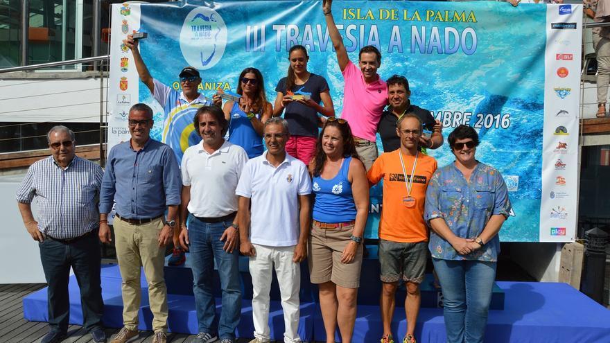 En la imagen, podium del Grupo Rápido de 20 kilómetros.