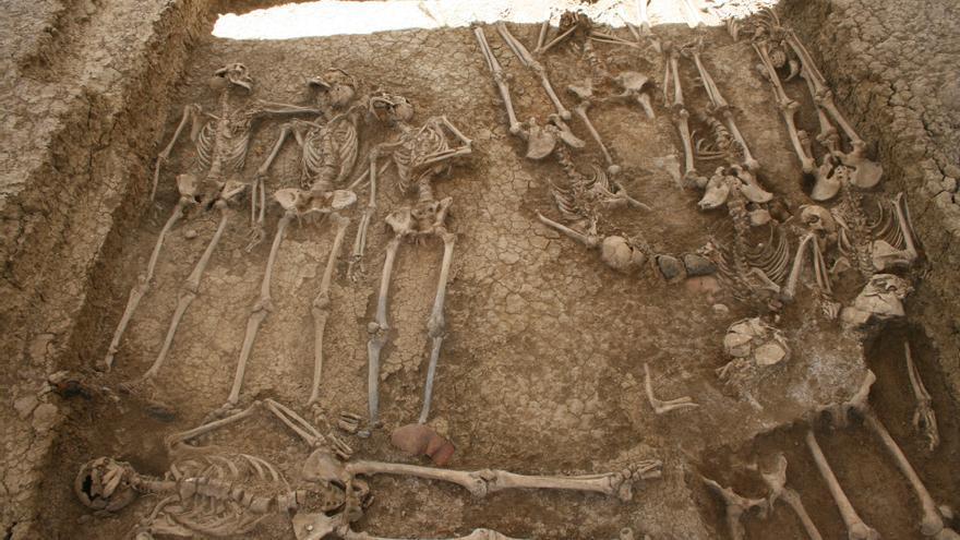 Fosa común del cementerio de San Rafael, en Málaga.