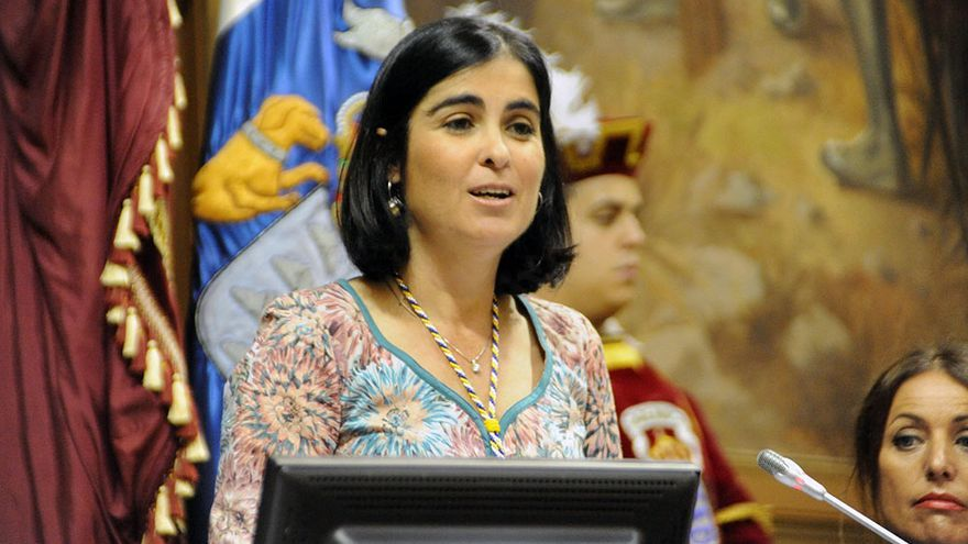 La presidenta del Parlamento de Canarias, Carolina Darias.